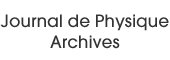 Journal de Physique Archives